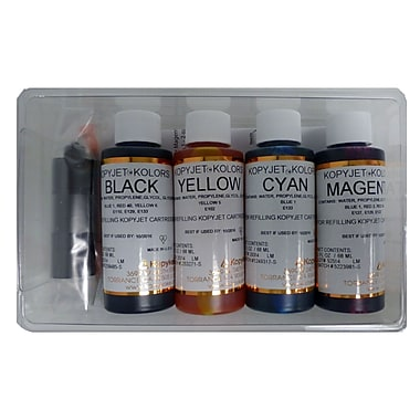 KopyKake Edible Ink Refill Set, 4-Colours