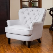 Home Loft Concepts Waldorf Diamond Tufted Club Chair; Natural