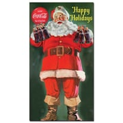"Trademark Coke Vintage Ad ""Santa Holding 6 pack of Coca-Cola"" Gallery-Wrapped Canvas Art, 13"" x 24"""