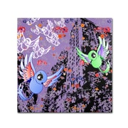 Trademark Miguel Paredes Purple Birds Gallery-Wrapped Canvas Art, 35 x 35