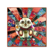 Trademark Miguel Paredes Red Lucky Cat Pattern Gallery-Wrapped Canvas Art, 35 x 35