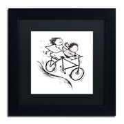 Trademark Carla Martell Bike Kids Art, Black Matte W/Black Frame, 11 x 11