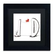 """Trademark Carla Martell """"D is for Dog"""" Art, Black Matte W/Black Frame, 11"""" x 11"""""""