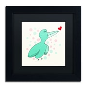 "Trademark Carla Martell ""Dreamy Love Bird"" Art, Black Matte W/Black Frame, 11"" x 11"""