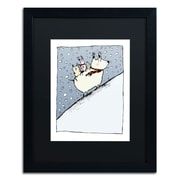 "Trademark Carla Martell ""Kind Dog"" Art, Black Matte W/Black Frame, 16"" x 20"""