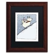 "Trademark Carla Martell ""Kind Dog"" Art, Black Matte W/Wood Frame, 11"" x 14"""