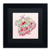 "Trademark Carla Martell ""Little Flower Princess"" Art, Black Matte W/Black Frame, 11"" x 11"""