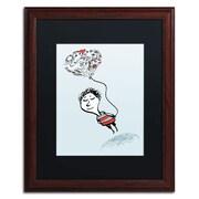 Trademark Carla Martell Love Balloon Art, Black Matte W/Wood Frame, 16 x 20