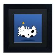 "Trademark Carla Martell ""Star Dog"" Art, Black Matte W/Black Frame, 11"" x 11"""