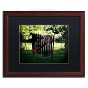"Trademark Philippe Sainte-Laudy ""Press the Red Button"" Art, Black Matte With Wood Frame, 16"" x 20"""