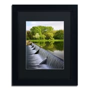 "Trademark Philippe Sainte-Laudy ""Vertical Activity"" Art, Black Matte With Black Frame, 11"" x 14"""