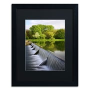 "Trademark Philippe Sainte-Laudy ""Vertical Activity"" Art, Black Matte With Black Frame, 16"" x 20"""