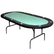 """Trademark Poker™ 84"""" Felt Texas Hold 'em Poker Table, Black/Green"""