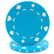 Trademark Poker™ 11.5g Suited Style Poker Chips, Light Blue, 50/Set