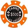 Trademark Poker™ 12g Casino Las Vegas Coin Inlay