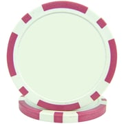 Trademark Poker™ 11.5g Classic Eight Stripe Dual Color Poker Chips, Pink, 50/Set