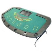 Trademark Poker™ Professional Blackjack Table With Folding Legs, Black/Green