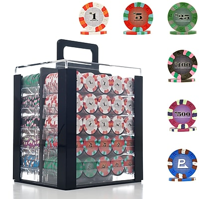 Trademark NexGen 9g Pro Classic Style 1000 Chips Poker Set With Acrylic Carrier 1449608