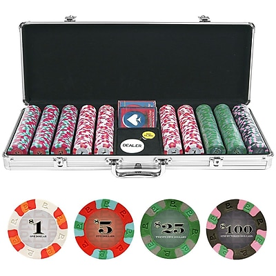 Trademark NexGen 9g Pro Classic Style 500 Chips Poker Set With Aluminum Case 1449899