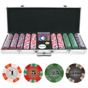 Trademark NexGen™ 9g Pro Classic Style 500 Chips Poker Set With Aluminum Case