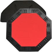 "Trademark Poker™ 48"" 8-Player Octagonal Table Top, Red"