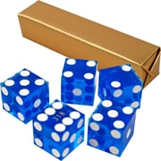 Trademark Poker™ 19 mm A Grade Serialized Casino Dices, Blue, 5/Set