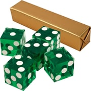 Trademark Poker™ 19 mm A Grade Serialized Casino Dices, Green, 5/Set