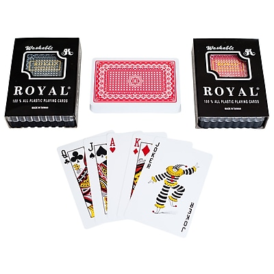Trademark Poker Royal 100% Two Deck Plastic Playing Cards With Star Pattern, Blue/Red 1449519