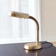 Trademark Lavish Home 27W Antique Brass Metal Sunlight Desk Lamp, Brass