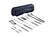 Stalwart™ 11 Piece Stainless Steel BBQ Set With Tote Bag