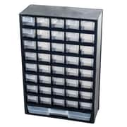 Stalwart Plastic 41-Compartment Hardware Storage Box, Black