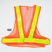 Trademark Stalwart™ Ultra-Bright 16 LED Flashing Safety Vest, Orange