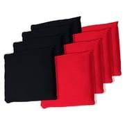 "Trademark Games™ 5"" x 5"" Championship Cornhole Bean Bags, Black/Red, 8/Set"