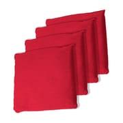"Trademark Games™ 5"" x 5"" Championship Cornhole Bean Bags, Red, 4/Set"