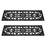 Trademark Pure Garden™ Non-Slip Stair Tread Mats Set, Black