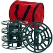 Trademark Set Of 4 Extension Cord/Christmas Light Reels With Carrying Bag, Green