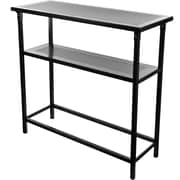 Trademark Deluxe Metal Portable Bar Table With Carrying Case, Black