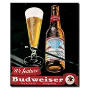 "Trademark Budweiser Vintage Ad ""Bottle & Glass"" Gallery-Wrapped Canvas Art, 18"" x 22"""