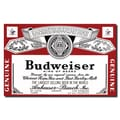 Trademark Budweiser Vintage Ad in.Beverage Labelin. Gallery-Wrapped Canvas Art, 18in. x 28in.