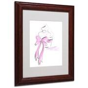 "Trademark Jennifer Lilya ""Cupcake 5"" Art, White Matte With Wood Frame, 11"" x 14"""