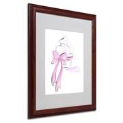 "Trademark Jennifer Lilya ""Cupcake 5"" Art, White Matte With Wood Frame, 16"" x 20"""