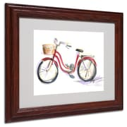 "Trademark Jennifer Lilya ""Go For A Ride"" Art, White Matte With Wood Frame, 11"" x 14"""