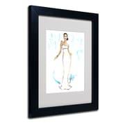 "Trademark Jennifer Lilya ""Night in White Satin"" Art, White Matte With Black Frame, 11"" x 14"""