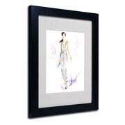 "Trademark Jennifer Lilya ""Silver Wear"" Art, White Matte With Black Frame, 11"" x 14"""