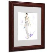 "Trademark Jennifer Lilya ""Silver Wear"" Art, White Matte With Wood Frame, 11"" x 14"""