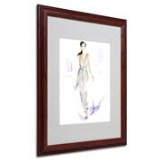 "Trademark Jennifer Lilya ""Silver Wear"" Art, White Matte With Wood Frame, 16"" x 20"""