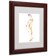 "Trademark Jennifer Lilya ""Slink and Slide"" Art, White Matte With Wood Frame, 11"" x 14"""
