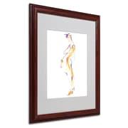 "Trademark Jennifer Lilya ""Slink and Slide"" Art, White Matte With Wood Frame, 16"" x 20"""