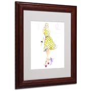 Trademark Jennifer Lilya Sunny Day Dreaming Art, White Matte With Wood Frame, 11 x 14