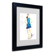 "Trademark Jennifer Lilya ""Tealing Beauty"" Art, White Matte With Black Frame, 11"" x 14"""